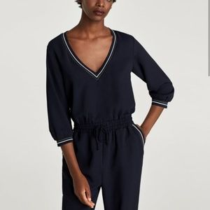 Zara ribbed jumpsuit (S) - New with tags!